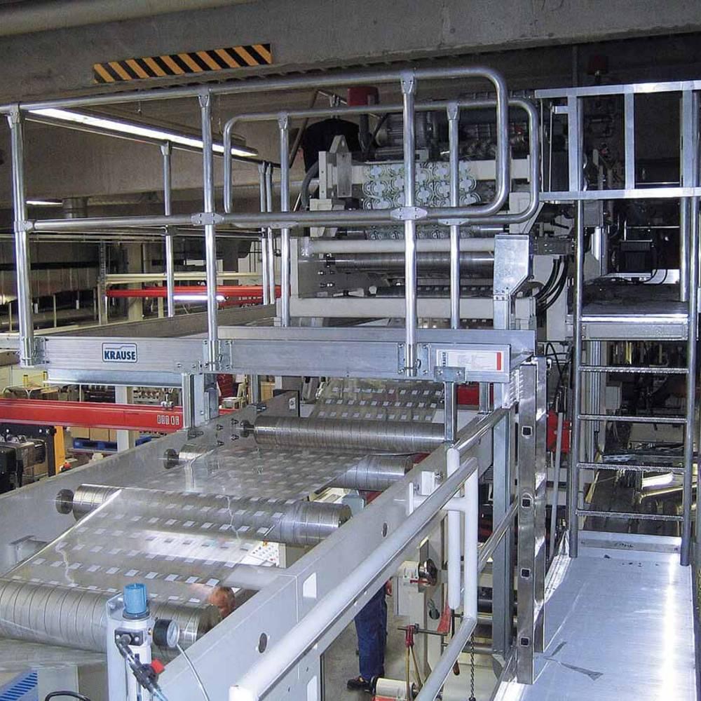 Der Aufgang der Arbeitsbühne erfolgt durch Leitern