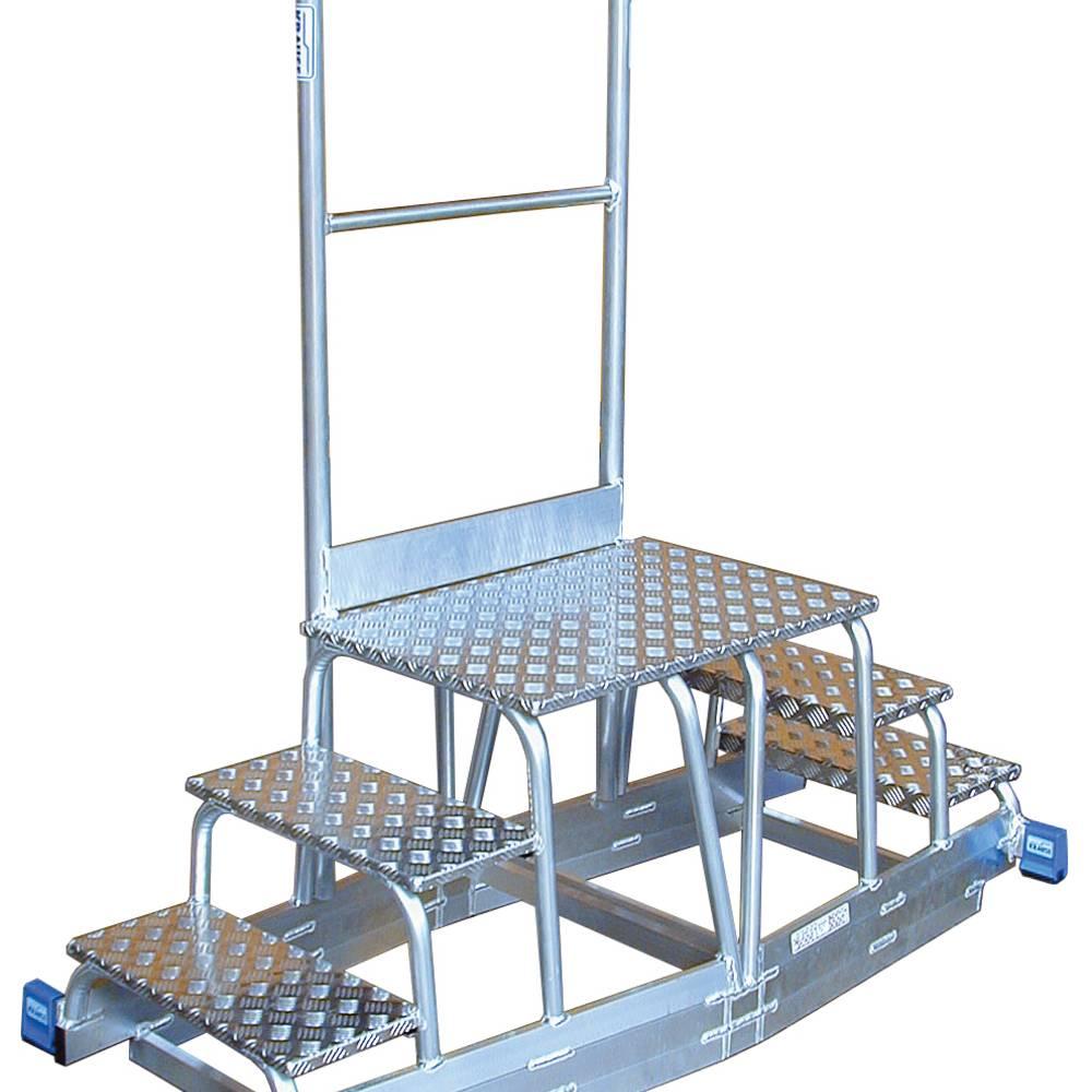 Krause - Sondertritt als Aufsatz auf Schienenanlage - Sonderlösungen aus Aluminium