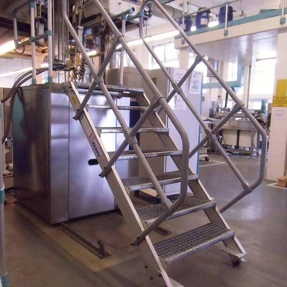 Mitfahrende Treppe zur Maschinenwartung als Alternative zu Leitern