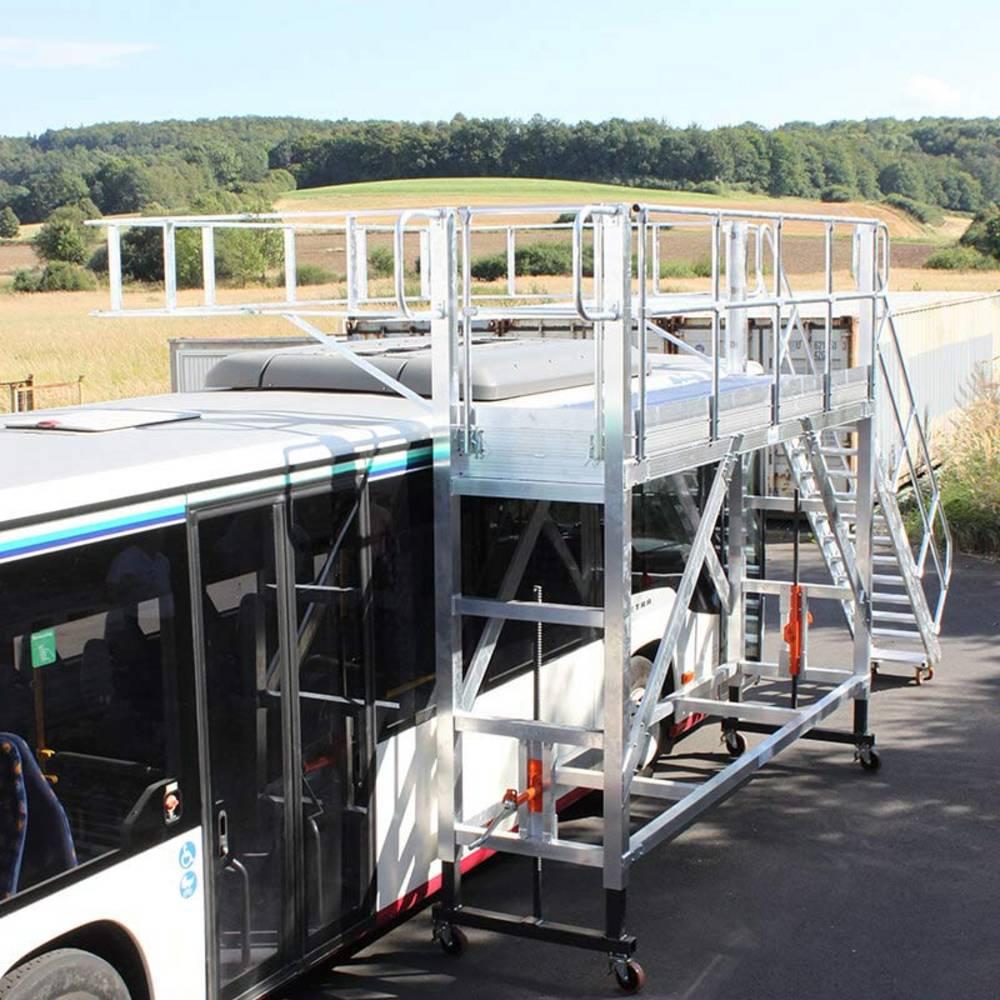 Fahrbare höhenverstellbare Arbeitsbühne zur Inspektion von Bussen