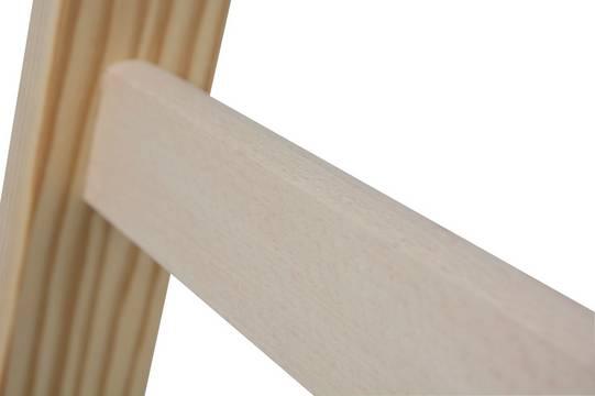 Sprossen-Doppelleiter Holz - Sprossen aus Hartholz mit bewährter Zylinderverzapfung