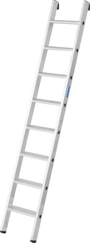 Die universell einsetzbare Aluminium-Anlegeleiter mit Stufen für bequemen und sicheren Stand sowie TRBS 2121-2-konforme Anwendung.