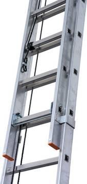 Sprossen-Seilzugleiter Robilo zweiteilig - Die Aluminium-Seilzugleiter mit der komfortablen Höhenverstellung
