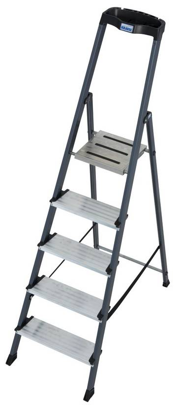 Die Stufen-Stehleiter für Tätigkeiten, bei denen Sauberkeit und Komfort von Bedeutung sind.