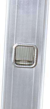 Sprossen-Anlegeleiter, einteilig - Langlebige, 32-fach verbördelte Sprossen-/Holmverbindung