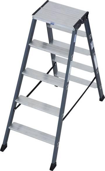Die SePro D ist die High-End-Stufen-Doppelleiter aus dem MONTO-Programm – sauber, komfortabel und langlebig.
