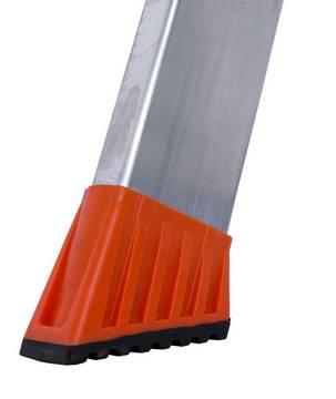 Stufen-Stehleiter Sepuro - Neu entwickelte, große Fußkappen mit Weichteileinlage (Safetycap)