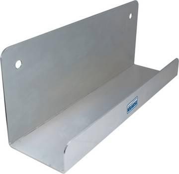 Für sichere und platzsparende Aufbewahrung von Leitern an der Wand.