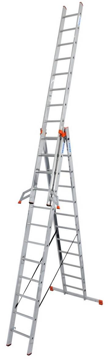 KRAUSE 129741 Spro.Leiter Treppe 3teil 3x8
