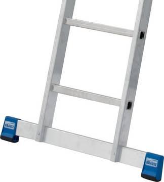 Schiebeleiter +S. Extra breite Quertraverse für sicheren Stand