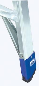 Sprossen-Gelenk-Teleskopleiter - Rutschhemmende Fußkappen (Safetycap)