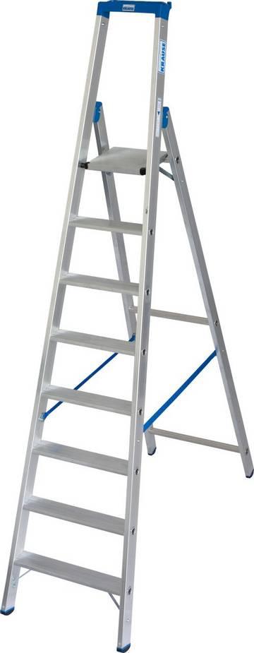 Die robuste Aluminium-Stehleiter mit Multifunktionsschale und Eimerhaken für den professionellen Einsatz.