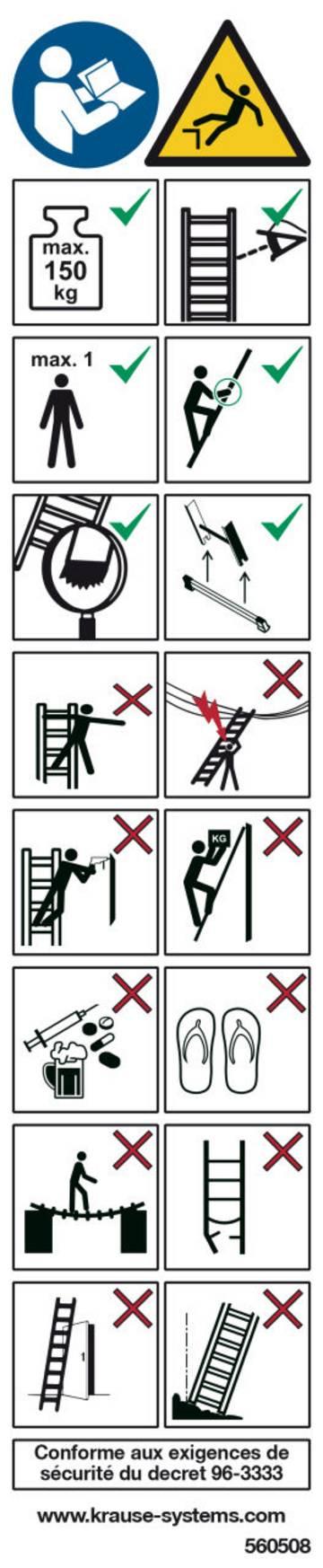 + Zur Kennzeichnung von Leitern und Tritten
