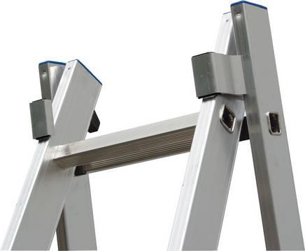 Sprossen-Mehrzweckleiter - Stabile holmumgreifende Aluminium-Führungsprofile für eine hohe Stabilität