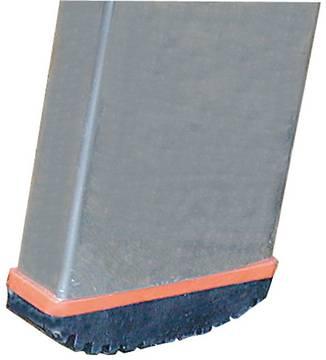 Sprossen-Anlegeleiter Sibilo einteilig - Rutschhemmende Fußstopfen (Safetycap)<br>