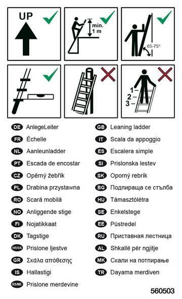 Zur Kennzeichnung von AnlegeLeitern