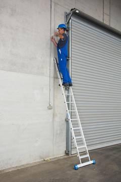 Anwendungsbeispiel Stufen-Anlegeleiter +S, einteilig