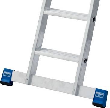 Stufen-Anlegeleiter +S,  einteilig - Rutschhemmende Fußstopfen (SafetyCap)