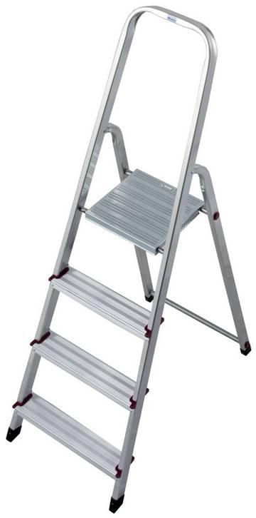Die kompakte Aluminium-Stehleiter für die unterschiedlichsten Tätigkeiten im Innenbereich.