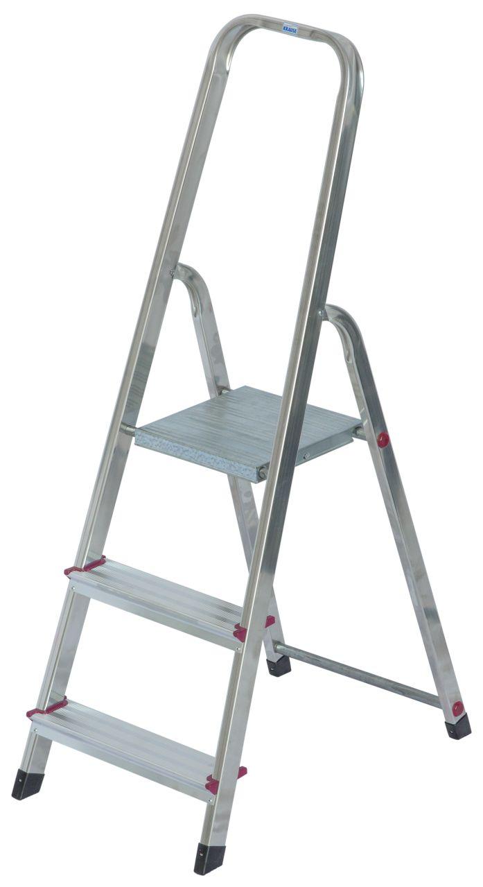 Stufen-Stehleiter-Die kompakte Aluminium-Stehleiter für die unterschiedlichsten Tätigkeiten im Innenbereich
