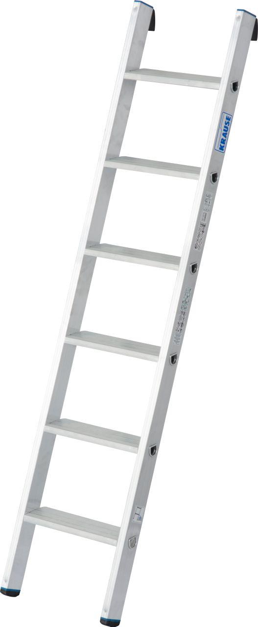 Stufen-Anlegeleiter +S, einteilig. Die universell einsetzbare Aluminium-Anlegeleiter mit Stufen für bequemen und sicheren Stand sowie TRBS 2121-2-konforme Anwendung.