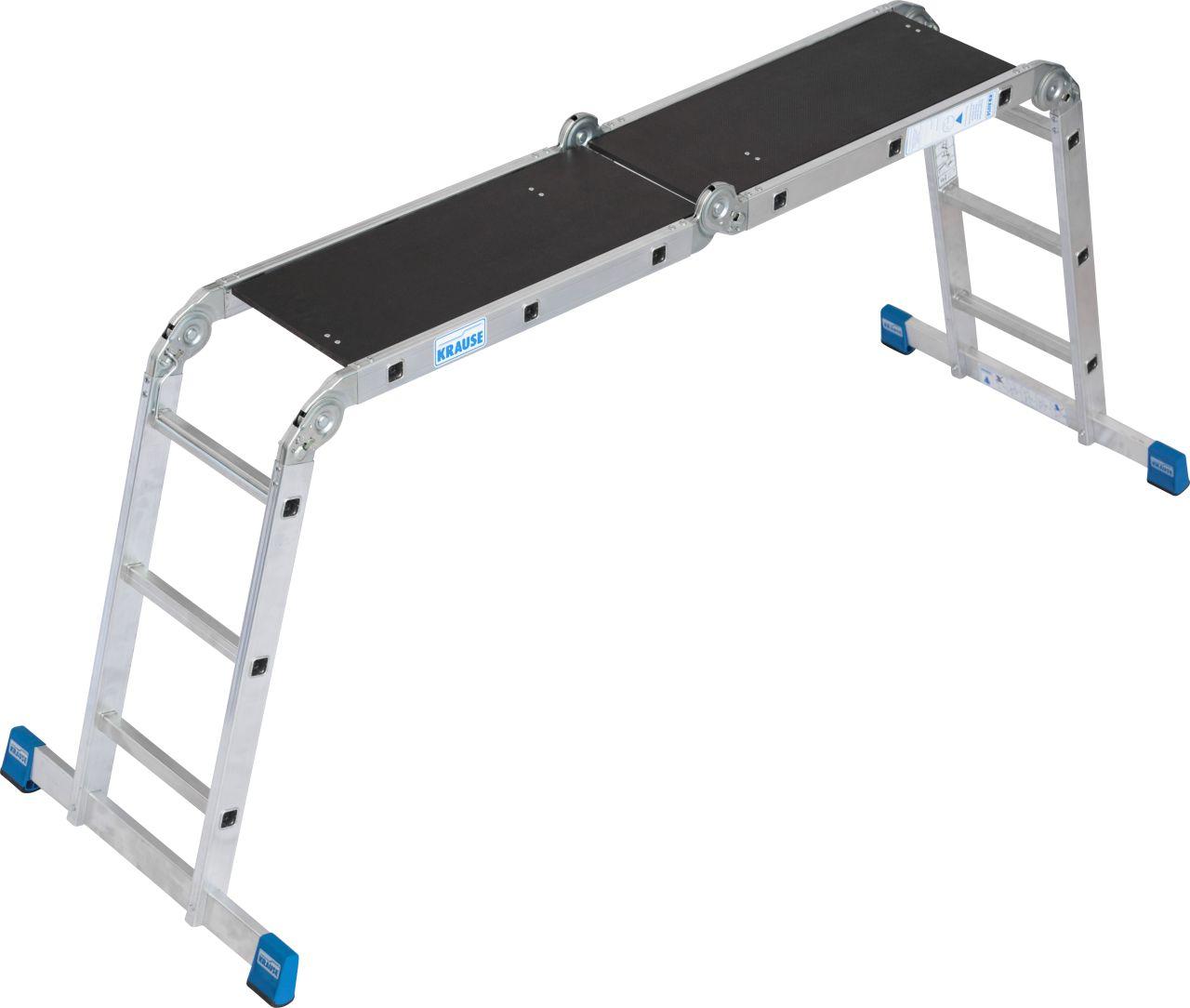 Sprossen-Gelenk-Universalleiter. Universelle Aluminium-Gelenkleiter einsetzbar als Anlegeleiter und Stehleiter