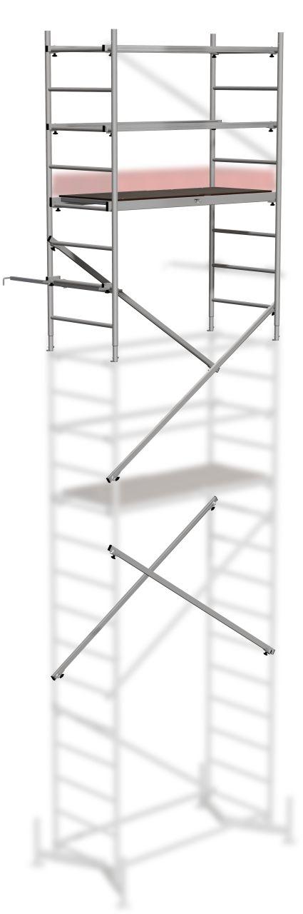 Alu-Arbeitsgerüst Grundgerüst-Das prämierte Alu-Arbeitsgerüst für den flexiblen und schnellen Inneneinsatz und Außeneinsatz