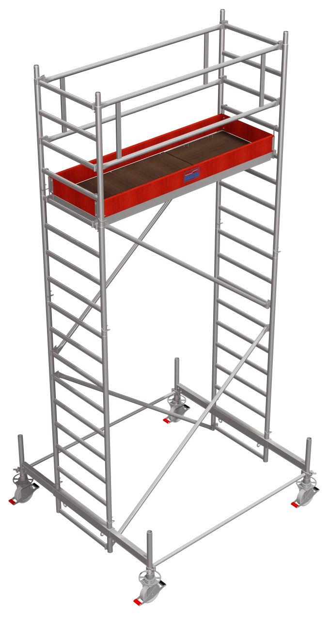 Fahrgerüst Serie 100 Das professionelle Alu-Fahrgerüst mit leichter Alu-Teleskoptraverse