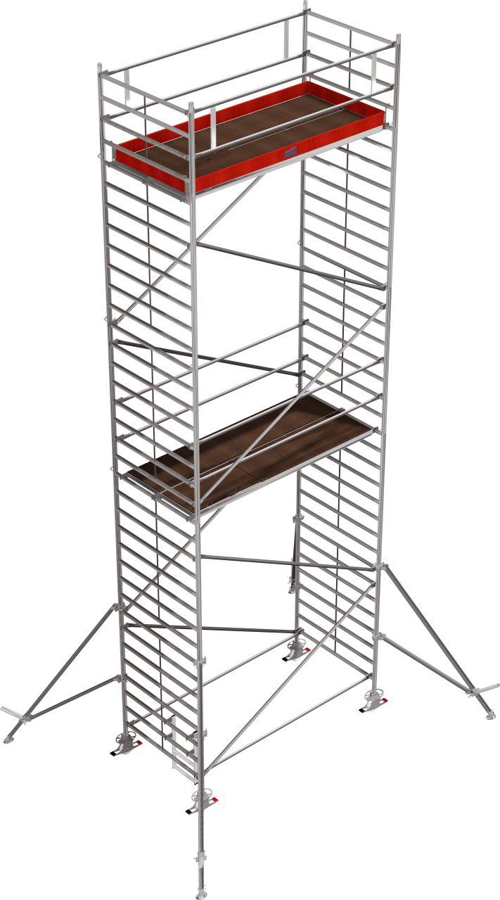 Fahrgerüst Serie 5000 Das professionelle Alu-Fahrgerüst ohne Traverse mit extra breiter Arbeitsfläche