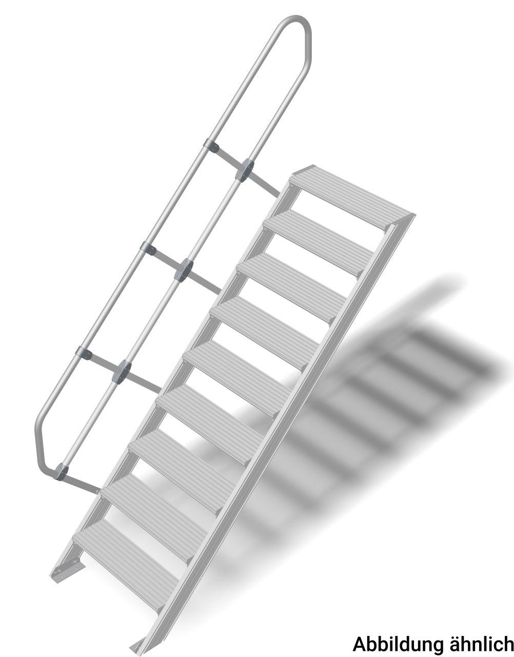 Treppe (Leichtmetall) Robuste Aluminium-Treppe für individuelle Lösungen in Anlehnung an die DIN EN ISO 14122