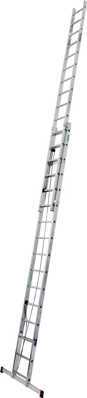 Seilzugleiter-Zweiteilige Aluminium-Seilzugleiter mit komfortabler Höhenverstellung