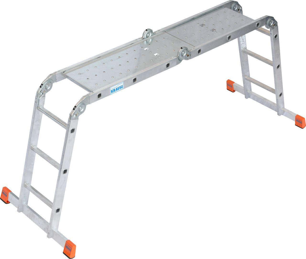 Sprossen-Gelenk-Universalleiter Multimatic. Flexible Gelenkleiter universell einsetzbar als Anlegeleiter, Stehleiter und als Arbeitsbühne