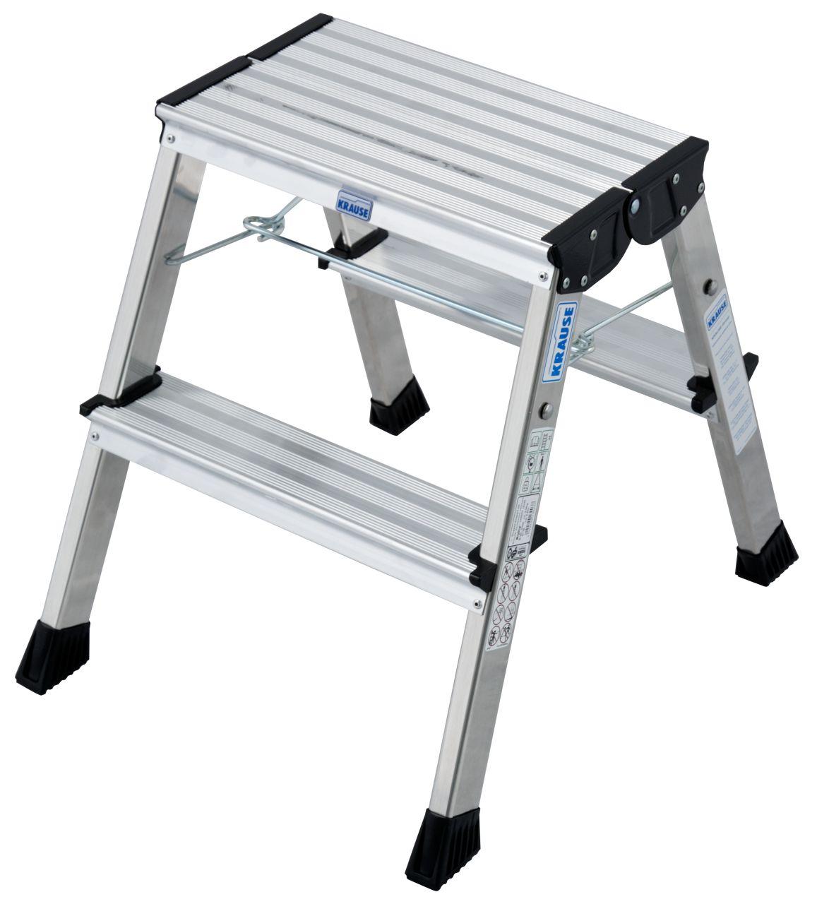 Doppel-Klapptritt Rolly. Der fahrbare und farbenfrohe Aluminium-Tritt für Steiganwendungen bis 2,65 m Arbeitshöhe (3-stufige Variante)