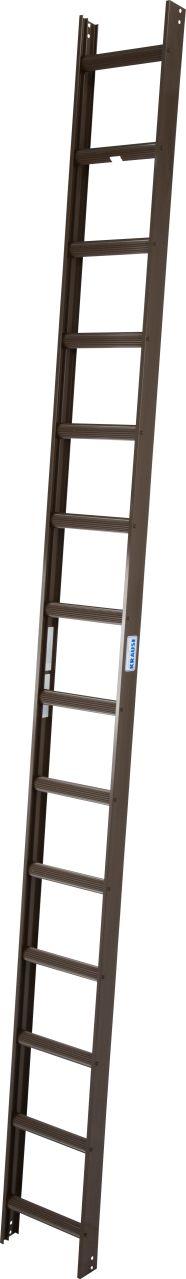 Kaminkehrerleiter. Die Aluminium-Kaminkehrerleiter kann dauerhaft auf dem Dach verbleiben