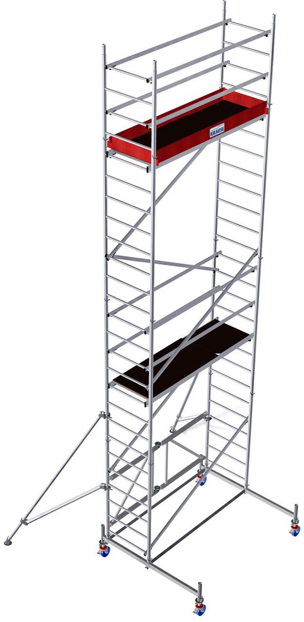 Alu-Faltgerüst- Das schnell aufzubauende und leicht zu transportierende Alu-Faltgerüst mit gebremsten Fahrrollen für Innenarbeiten und Außenarbeiten