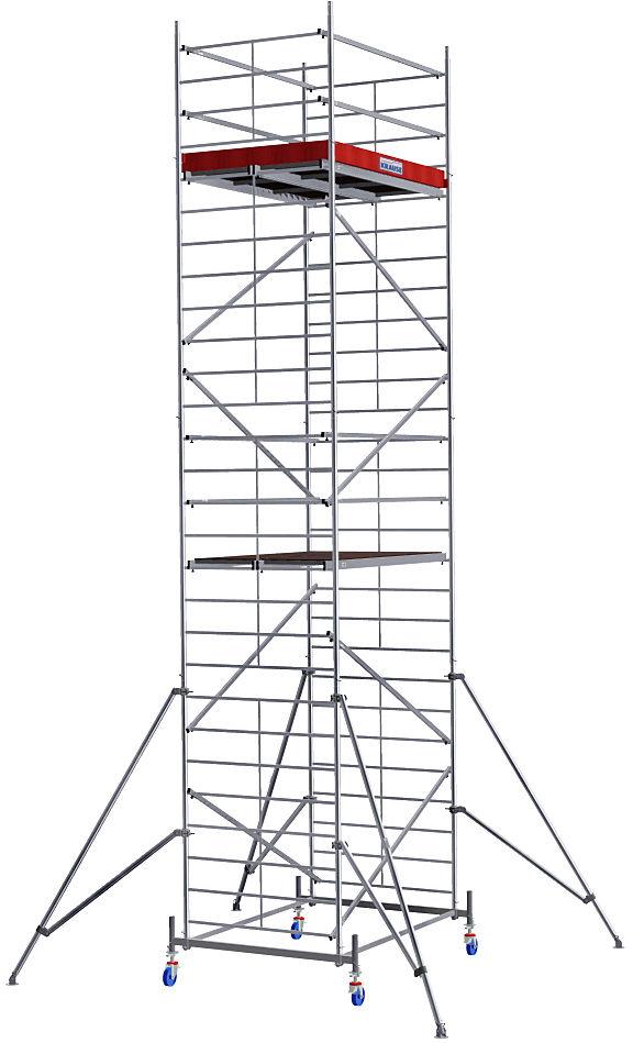 Alu-Fahrgerüst Breitaufbau- Das massive Alu-Fahrgerüst XXL mit extra großer Arbeitsfläche für effizienteres Arbeiten