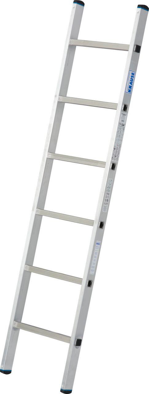 Sprossen-Anlegeleiter, einteilig. Breite, Stabilität und Flexibilität sind die verlässlichen Attribute dieser Aluminium-Anlegeleiter