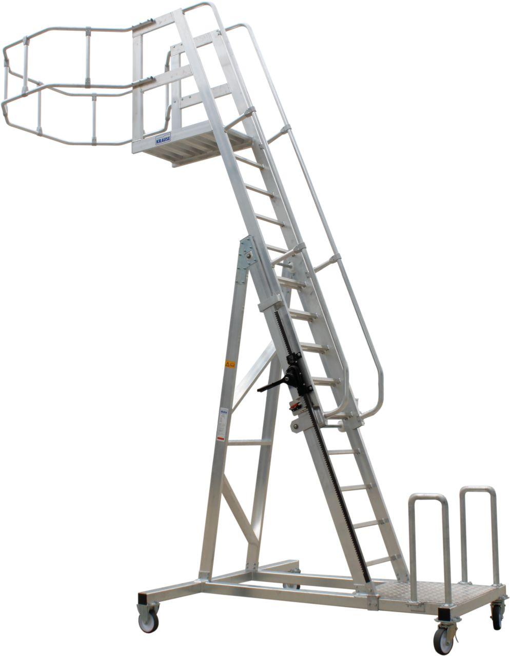 Tankwagenleiter Freistehende und leicht verfahrbare Tankwagenleiter als Zugang für Bedienungsarbeiten oder Kontrollarbeiten