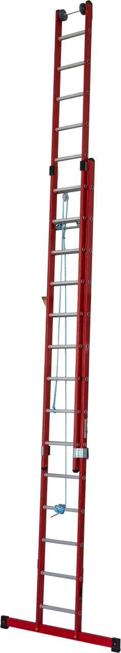 Anwendungsbeispiel Kunststoff-Schiebe-Seilzugleiter