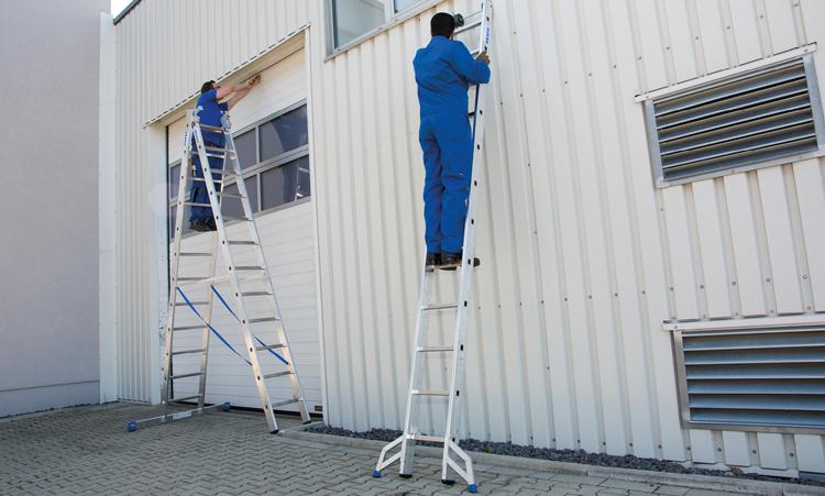 Paralleles Arbeiten mit beiden Leiternteilen gleichzeitig möglich