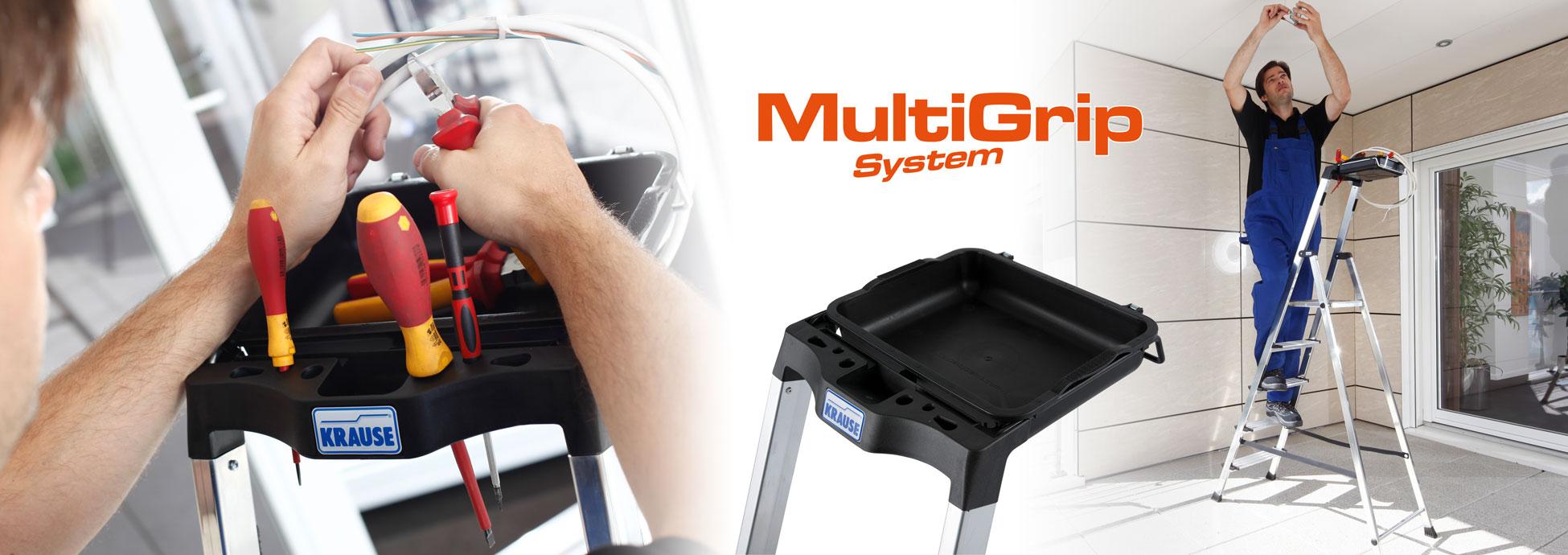 Das innovative KRAUSE MultiGrip-System