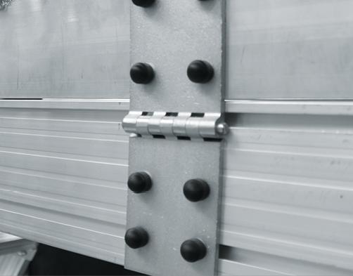 Steckbares Geländer für fahrbare Grubenpodeste