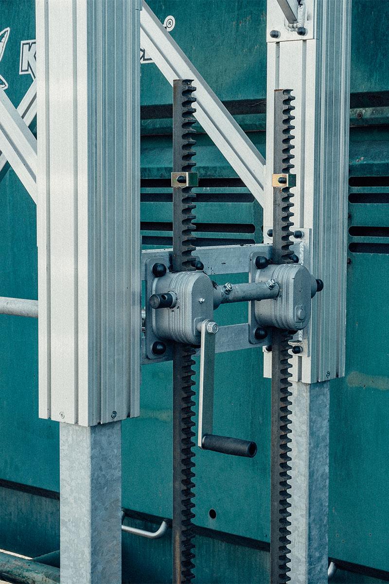 Individuell einstellbare Höhenverstellung zur Anpassung der Plattformhöhe